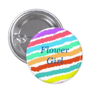 Custom Watercolor Wedding Flower Girl Buttons