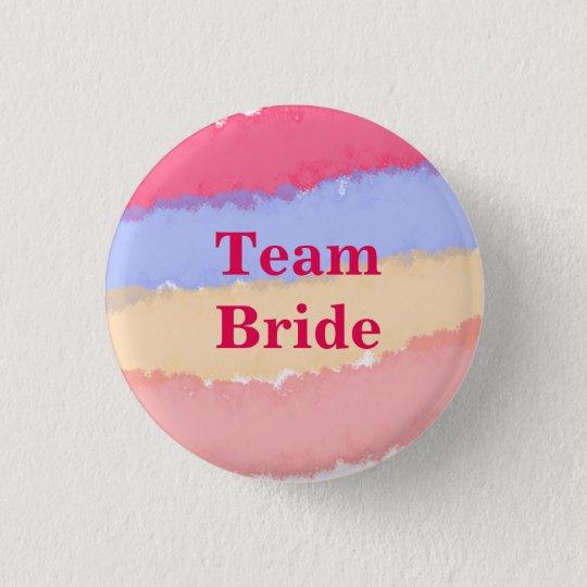 Custom Watercolor Wedding Team Bride Buttons
