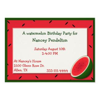 Custom Watermelon Invitation