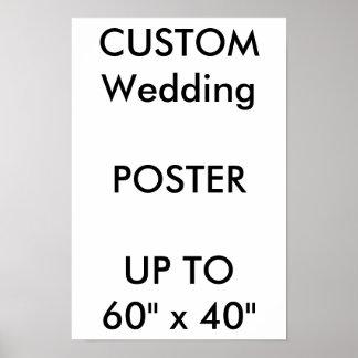 "Custom Wedding 11"" x 16.5"" Poster MATTE Portrait"