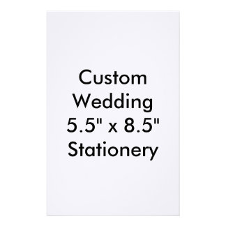 "Custom Wedding 5.5"" x 8.5"" Stationery"