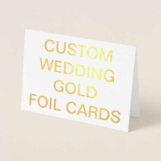 Custom Wedding 7x5 Personalised Gold Foil Cards