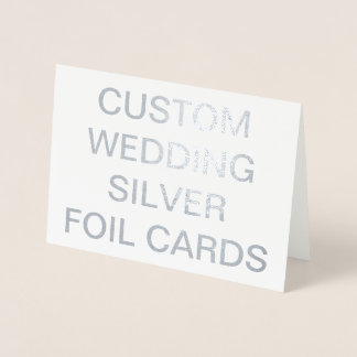 Custom Wedding 7x5 Personalized Silver Foil Cards