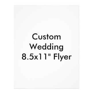 "Custom Wedding  8.5x11"" Flyer Personalized Flyer"