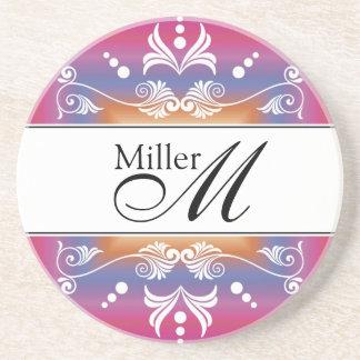 Custom Wedding Anniversary Monogram Coaster