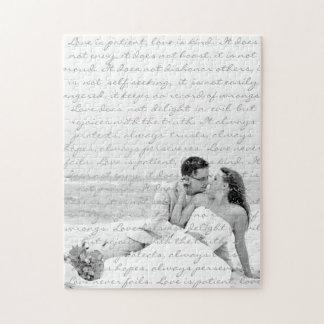 Custom Wedding Anniversary Photo Gift Jigsaw Puzzle
