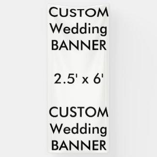 Custom Wedding Banner 2.5' x 6'