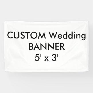 Custom Wedding Banner 5' x 3'