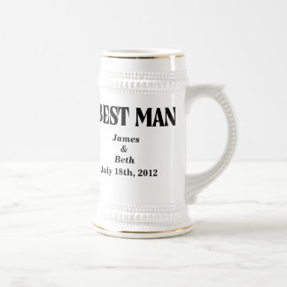 Custom Wedding Best Man Beer Stein