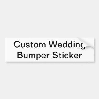 Custom Wedding Bumper Sticker Car Bumper Sticker