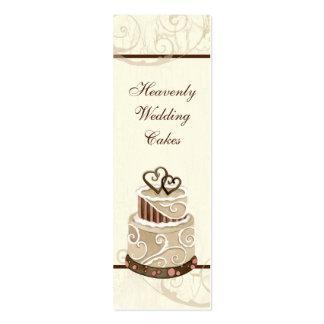 Custom Wedding Cake Modern Dot Stripe Swirls Pack Of Skinny Business Cards
