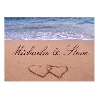 """Custom Wedding Card """"love on the beach"""" Pack Of Chubby Business Cards"""