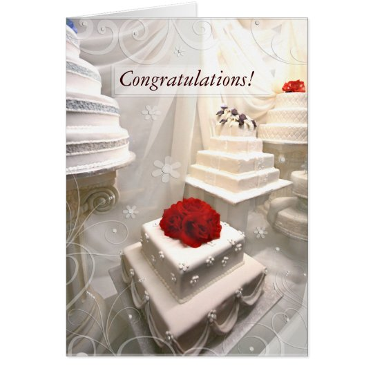 Custom Wedding Congratulations Greeting Card
