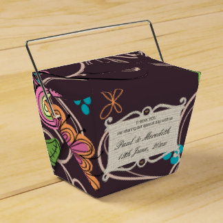 Custom Wedding  Earth Flowers Favour Box