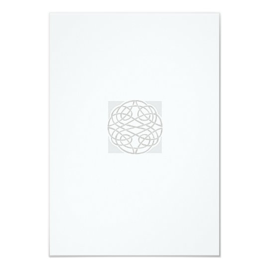 Custom Wedding Enclosures Silver Celtic Knot Card