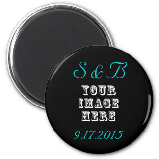 Custom Wedding Favor 6 Cm Round Magnet