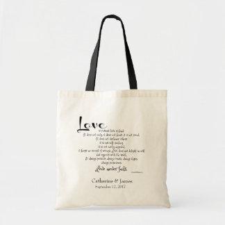 Custom Wedding Favors, Corinthians Quote LOVE