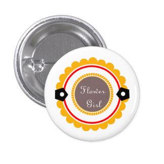 Custom Wedding Flower Girl Buttons