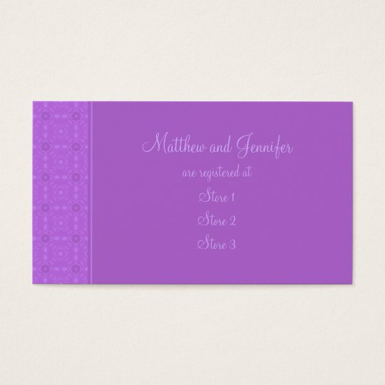 Custom Wedding Gift Registry Cards
