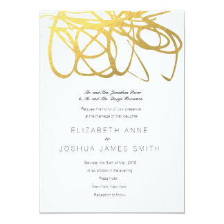 Custom Wedding Gold Effect Invitation