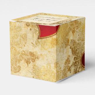 Custom Wedding Golden Hearts Classic Favour Box