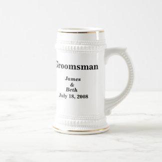 Custom Wedding Groomsman Beer Stein Beer Steins