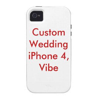 Custom Wedding iPhone 4 Hard Case Template Blank Vibe iPhone 4 Case