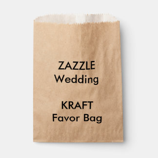 Custom Wedding KRAFT Paper Favor Bag Favour Bags