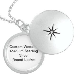 Custom Wedding Medium Sterling Silver Round Locket