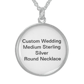 Custom Wedding Medium SterlingSilver RoundNecklace Round Pendant Necklace