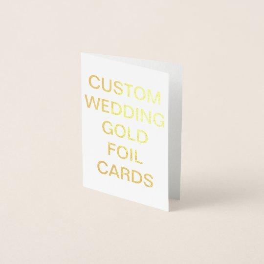 Custom Wedding Mini Personalised Gold Foil Card