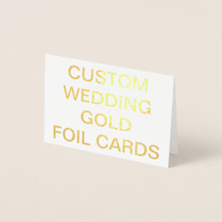 Custom Wedding Mini Personalized Gold Foil Card