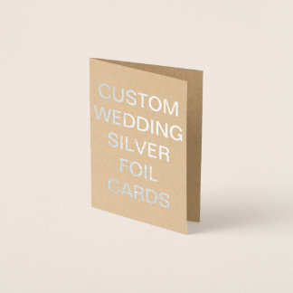 Custom Wedding Mini Personalized Silver Foil Card