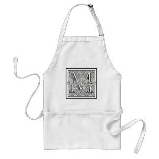 Custom wedding monogram apron