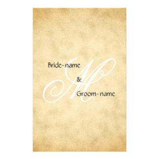 Custom Wedding Monogram Vintage Style Personalized Flyer
