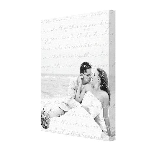 Custom Wedding Photo and Lyrics Canvas Art Stretched Canvas Prints