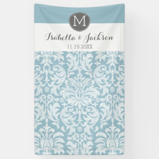 Custom Wedding Photo Backdrop Bride Groom Monogram Banner
