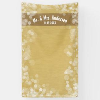 Custom Wedding Photo Booth Backdrop Mr & Mrs Gold Banner