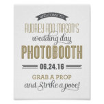 Custom Wedding Photo Booth Sign | Antique Gold