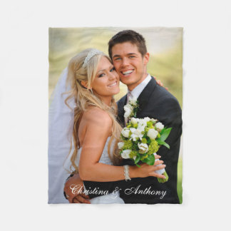 Custom Wedding Photo Fleece Blanket