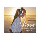 Custom Wedding Photo Love Name Canvas Print