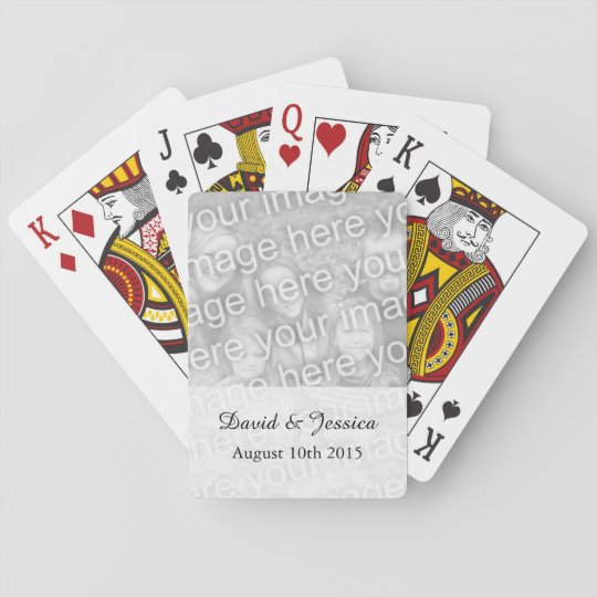 Custom wedding photo playing cards with picture