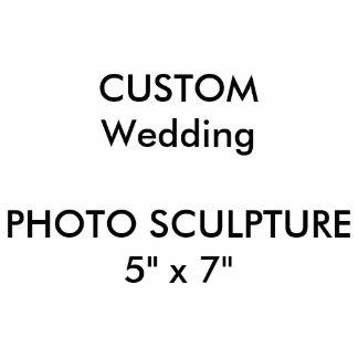 "Custom Wedding Photo Sculpture 5"" x 7"""
