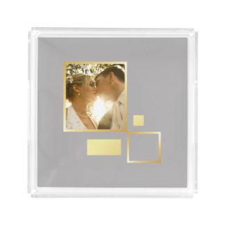 custom wedding photo template, gold foil design