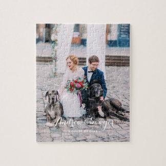 Custom Wedding Photo Vertical Puzzle