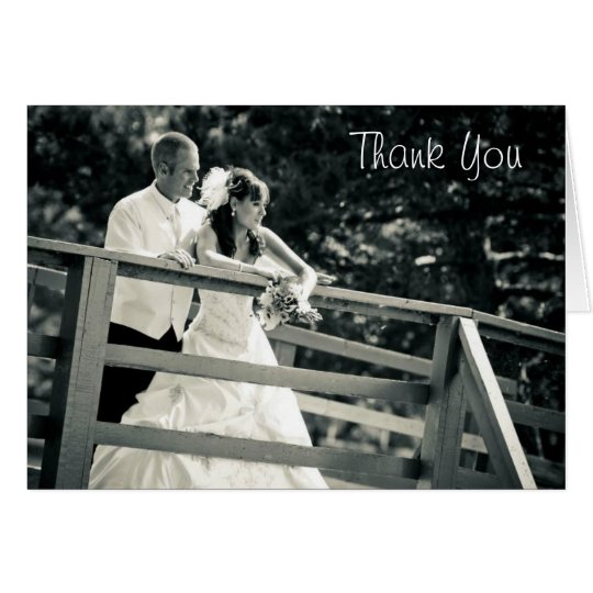 Custom Wedding Picture Thank You Card