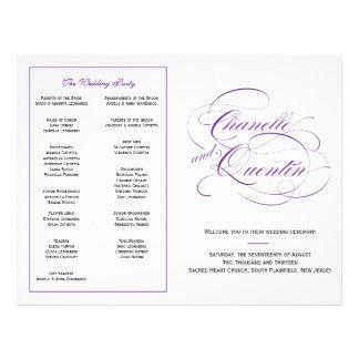 Custom Wedding Program - Purple Flyer