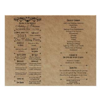 Custom Wedding Program Template for Fan 21.5 Cm X 28 Cm Flyer