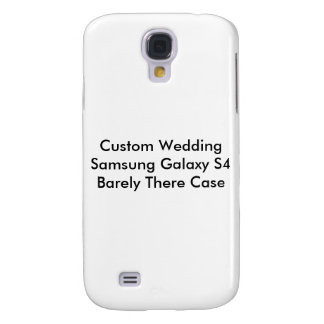 Custom Wedding Samsung Galaxy S4 Barely There Case Galaxy S4 Cases