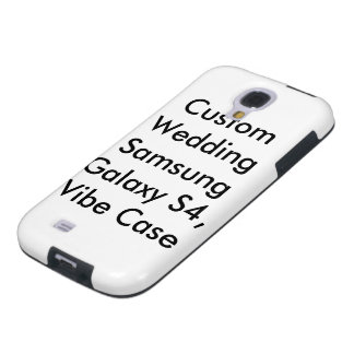 Custom Wedding Samsung Galaxy S4 Vibe Case Galaxy S4 Case